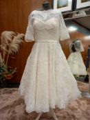 1 X (LOULOUBRIDALWEAR) WEDDING DRESS STYLE - LB190 COLOUR - IVORY SIZE - UK14 RRP - 1,100