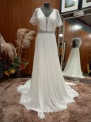 1 X (AIMA) WEDDING DRESS MODEL - 4B109GASAE01440 COLOUR - IVORY SIZE - UK16 NO TAG