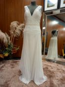 1 X (ZAC POSEN FOR WHITE ONE) WEDDING DRESS SIZE - UK14 RRP - £1,200