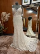1 X (WTOO) WEDDING DRESS SIZE - UK10 COLOUR - IVORY NO TAG, NOTE: BOTTOM HEM IS MARKED