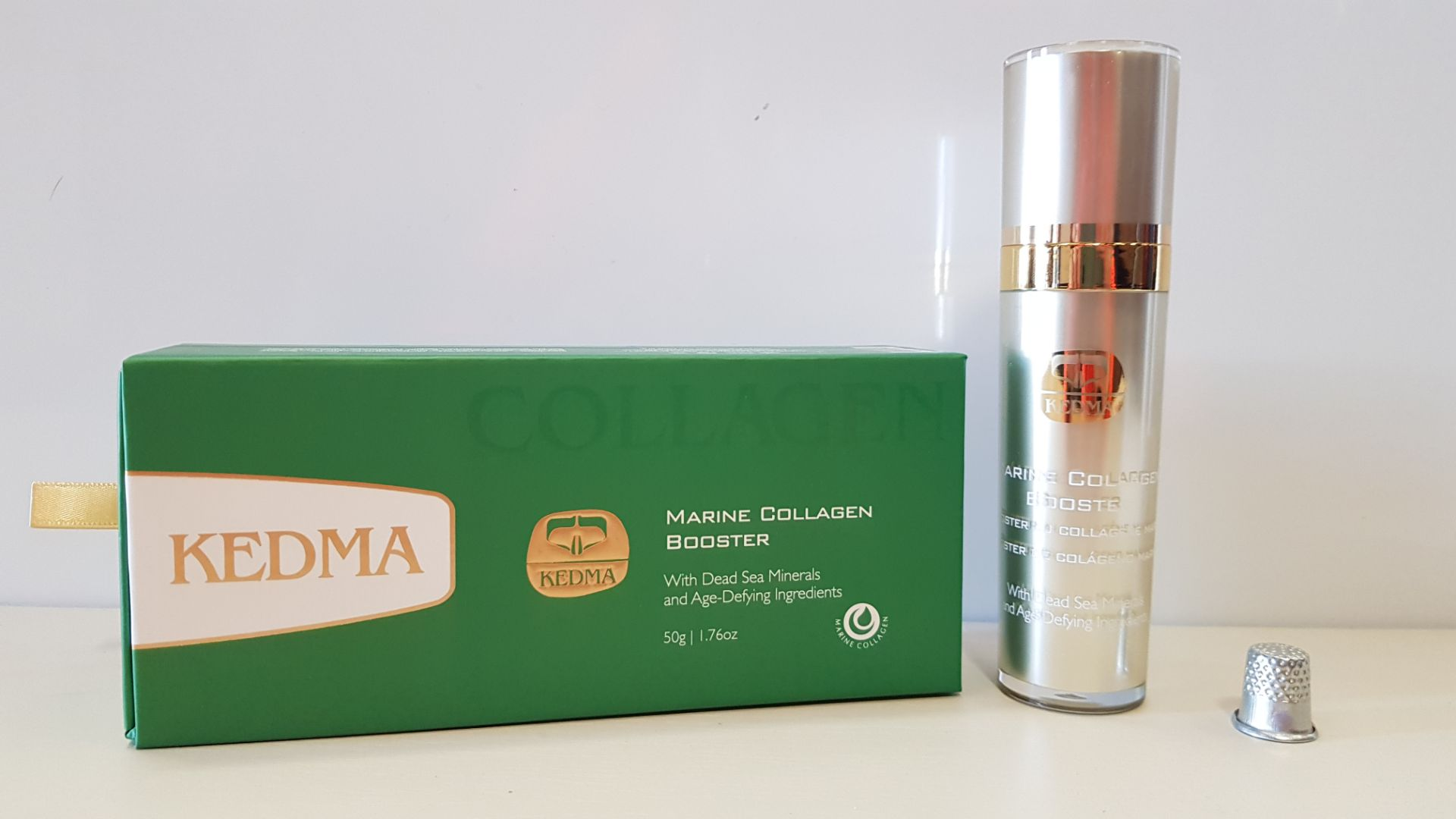 3 X BRAND NEW BOXED KEDMA MARINE COLLAGEN BOOSTER WITH DEAD SEA MINERALS AND AGE-DEFYING INGREDIENTS