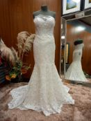 1 X (WTOO) WEDDING DRESS STYLE - 12118B SIZE - UK8 COLOUR - IVORY OYSTER RRP - £1,475