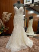 1 X (WTOO) WEDDING DRESS STYLE - 12101 SIZE - UK10 COLOUR - IVORY RRP - £1,575