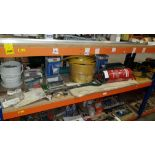 MIXED LOT CONTAINING A LARGE QUANTITY OF DOUBLE SIDED TAPE, GARDEN SPADE, WATER EXTINGUISHER, SOUDAL