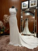 1 X (PRONOVIAS BARCELONA) WEDDING DRESS LABEL - 61100001.854 DRESS COLOUR - IVORY SIZE - UK10 LONG