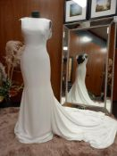 1 X (PRONOVIAS BARCELONA) WEDDING DRESS LABEL - 91527001.685 DRESS SIZE - UK10 NO TAG