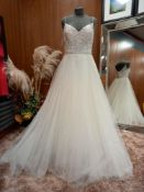 1 X (WTOO) WEDDING DRESS STYLE - 19701 SIZE - UK10 COLOUR - IVORY RRP - £860