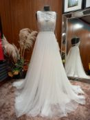 1 X (ROSA CLARA SOFT) WEDDING DRESS MODEL - 4K109TPLUEP1400 SIZE - UK12 RRP - £1,625