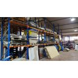 CONTAINED OVER 14 BAYS LARGE QUANTITY OF BUILDING PRODUCTS TO INCLUDE - FLAGS, BRICK, WASH