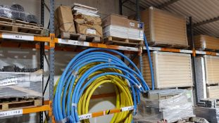 2 X PALLETS OF CLEAN ROOM CEILING TILES & A LARGE QUANTITY OF VARIOUS WATER/GAS PIPE (50MM) -