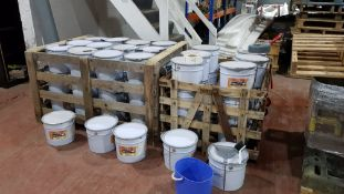 2 X PALLETS OF VARIOUS (THERMO GUARD) PAINTS IN 20KG DRUMS - SPECIFICALLY USED FOR STEEL & CAST IRON