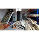 LARGE QUANTITY OF BUILDING PRODUCTS TO INCLUDE - ALUMINIUM TOWER SCAFFOLD, LARGE VOLUME OF