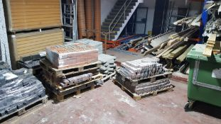 6 X PALLETS OF BUILDING MATERIAL TO INCLUDE - 2 X PALLETS OF FLAGS, 3 X PALLETS OF PAVING BRICK &