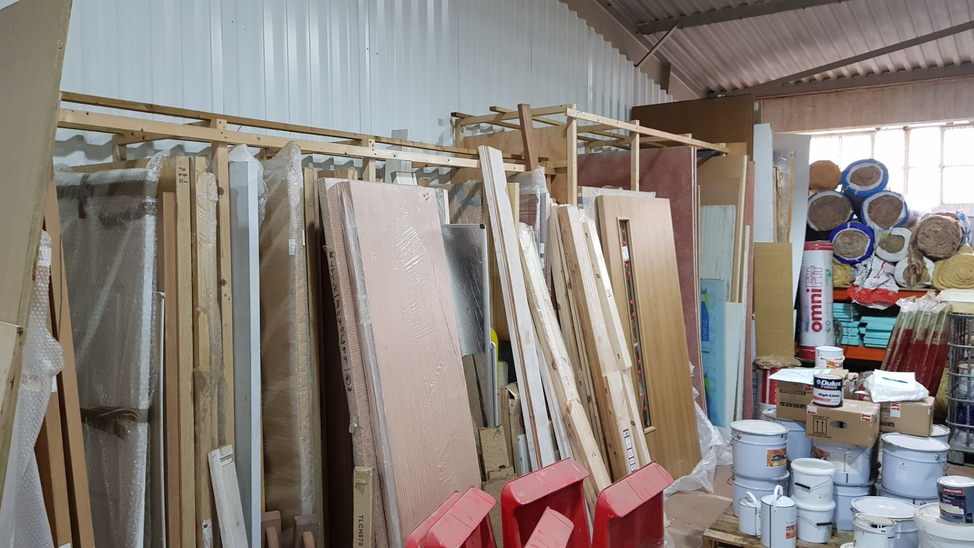 LARGE QUANTITY OF DOORS TO INCLUDE - 12 X BRAND NEW 155X1450 FIRE DOORS & APPROX 30 X VARIOUS - Image 2 of 2