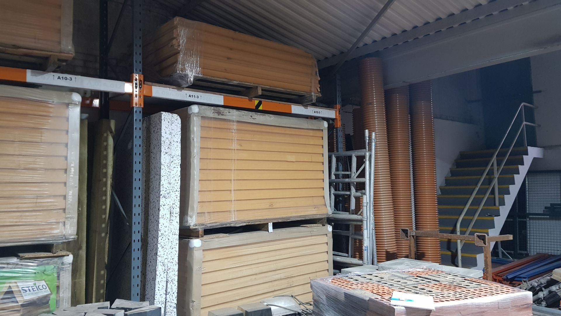 27 X SHEETS OF (STEICO) 1880X600X100 INSULATION BOARD - CONTAINED ON 3 X PALLETS