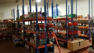 CONTAINED OVER 18 LEGS OF RACKING A LARGE SELECTION OF MAINLY BRAND NEW HARDWARE & BUILDING PRODUCTS