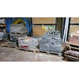 6 X PALLETS OF BUILDING MATERIAL TO INCLUDE - 1 X PALLET OF (PRIORA 200X100X60 BRINDLE PAVING
