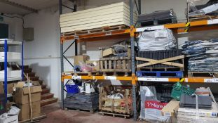 "MIXED LOT OF BUILDING PRODUCTS TO INCLUDE - 7 X BOARDS OF 4"" INSULATION, 2 X PALLETS OF VARIOUS"