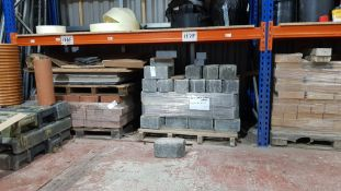 2 X PALLETS TO INCLUDE - 60 X (GREY COBBLE EDGES 2045X160X130) 7 X SLABS OF VARIOUS INDIAN STONE