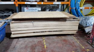 28 X BOARDS OF BRAND NEW OSB3 18MM 2440X1220 & 12 X MISC BOARD - 40 BOARDS IN TOTAL CONTAINED ON