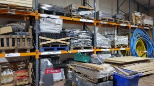 6 X PALLETS OF MIXED BUILDING PRODUCTS TO INCLUDE - 4 X PALLETS OF MIXED MARLEY RIDGE TILES, 1 X