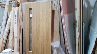 LARGE QUANTITY OF DOORS TO INCLUDE - 12 X BRAND NEW 155X1450 FIRE DOORS & APPROX 30 X VARIOUS