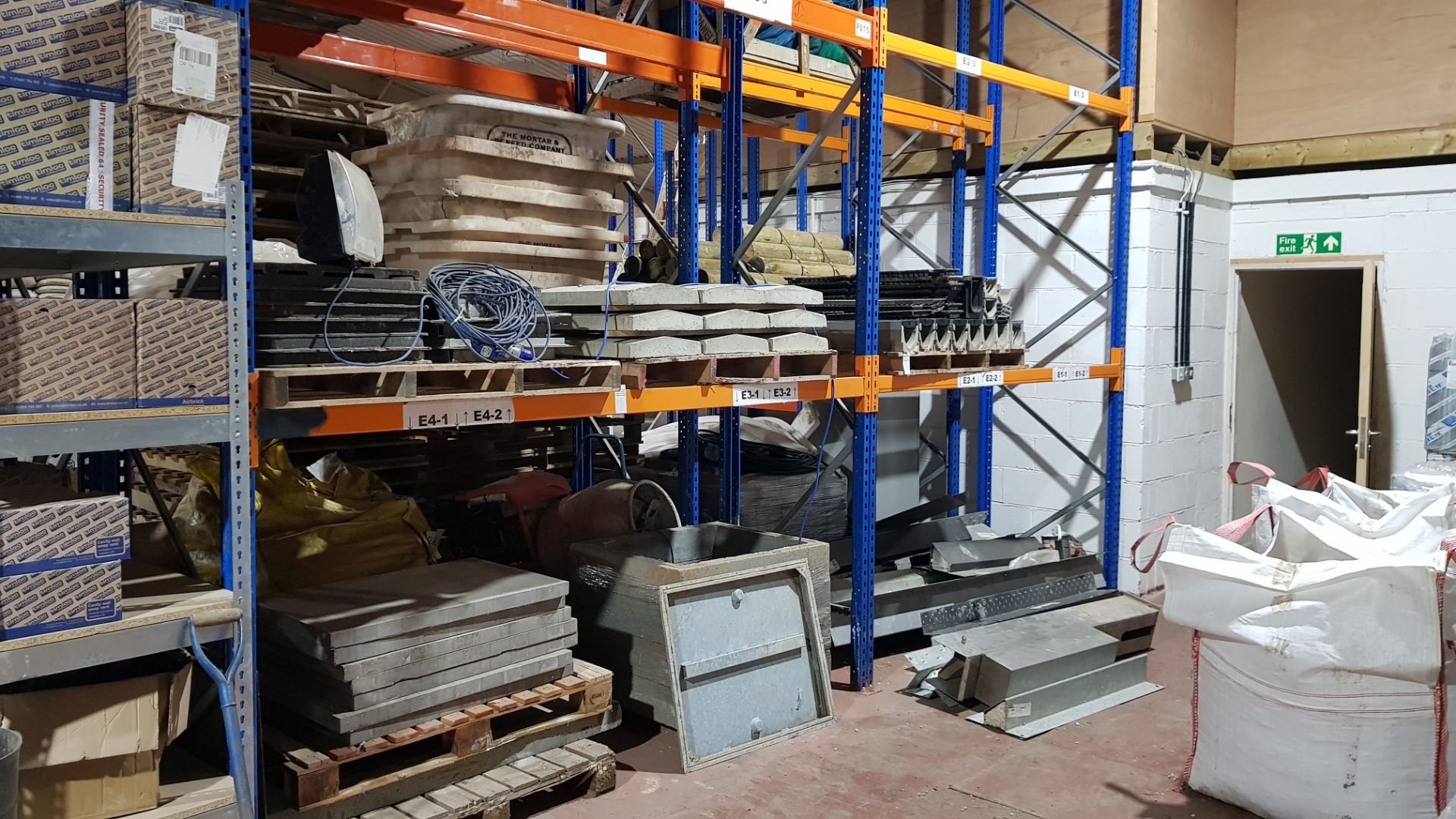 CONTAINED OVER 7 X PALLETS - COMMERCIAL ECO CHANNEL, FLAGS, MAN HOLE COVERS, APPROX 10 X VARIOUS
