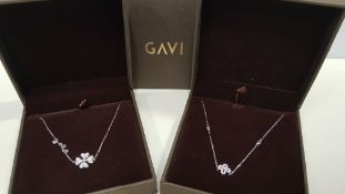 20 X ASSORTED BRAND NEW BOXED GAVI LOT CONTAINING SILVER COLOURED BRACELET WITH PENDANT AND SILVER