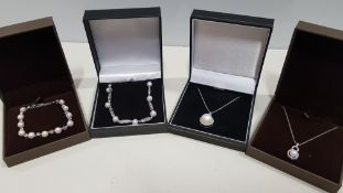 22 X ASSORTED BRAND NEW BOXED GAVI LOT CONTAINING 2 TYPES OF SILVER COLOURED BRACELET WITH PEARL