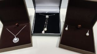 20 X ASSORTED BRAND NEW BOXED GAVI LOT CONTAINING SILVER COLOURED PEARL DETAILED EARRING AND 2 TYPES