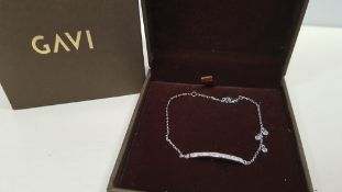 15 X BRAND NEW INDIVIDUALLY BOXED GAVI SILVER COLOURED BRACELET WITH PENDANT