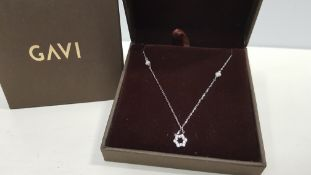 25 X BRAND NEW INDIVIDUALLY BOXED GAVI SILVER COLOURED STAR NECKLACE