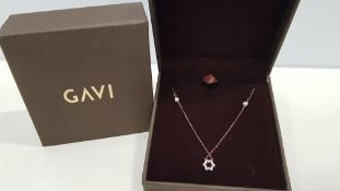18 X BRAND NEW INDIVIDUALLY BOXED GAVI ROSE GOLD COLOURED FLOWER NECKLACE