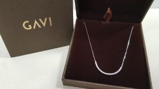 25 X BRAND NEW INDIVIDUALLY BOXED GAVI SILVER COLOURED NECKLACE WITH PENDANT