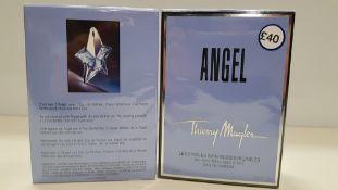 10 X 25ML ANGEL, THIERRY MUGLER EAU DE PARFUM (EXP DATE UNKNOWN) - ORIGINAL CELLOPHANE WRAPPED