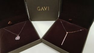 24 X ASSORTED BRAND NEW BOXED GAVI LOT CONTAINING NECKLACE WITH FLOWER PENDANT AND NECKLACE WITH
