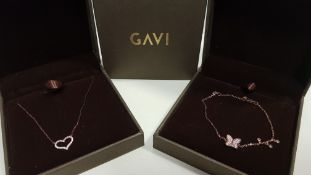 23 X ASSORTED BRAND NEW GAVI LOT CONTAINING BRACELET WITH BUTTERFLY PENDANT AND NECKLACE WITH