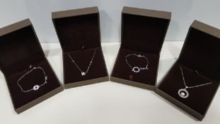 21 X ASSORTED BRAND NEW BOXED GAVI LOT CONTAINING 3 TYPES OF SILVER COLOURED NECKLACES, PEARL
