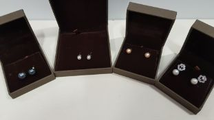 20 X ASSORTED BRAND NEW BOXED GAVI LOT CONTAINING 4 TYPES OF PEARL DETAILED EARRINGS