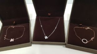 21 X ASSORTED BRAND NEW BOXED GAVI LOT CONTAINING SILVER COLOURED NECKLACE WITH PENDANT, BUTTERFLY