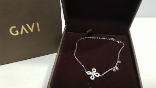 20 X BRAND NEW INDIVIDUALLY BOXED GAVI SILVER COLOURED BRACELET WITH PENDANT