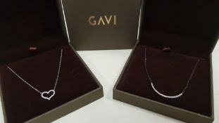 26 X ASSORTED BRAND NEW GAVI LOT CONTAINING SILVER COLOURED HEART NECKLACE AND NECKLACE WITH