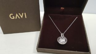 21 X BRAND NEW INDIVIDUALLY BOXED GAVI SILVER COLOURED NECKLACE WITH PENDANT
