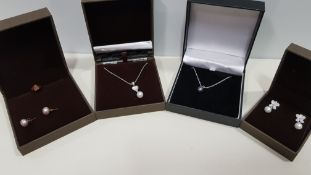21 X ASSORTED BRAND NEW BOXED GAVI LOT CONTAINING 2 TYPES OF SILVER COLOURED NECKLACE WITH PEARL