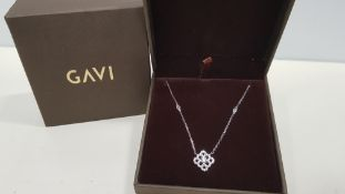 25 X BRAND NEW INDIVIDUALLY BOXED GAVI SILVER COLOURED NECKLACE