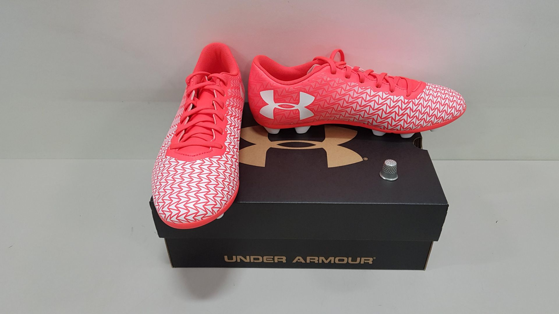 6 X BRAND NEW UNDER ARMOUR CF FORCE 3.0 FG-R-JR FOOTBALL BOOTS UK SIZE 5
