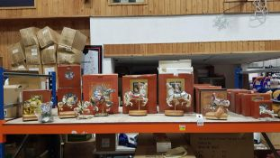 19 PIECE AMERICAN CAROUSEL LOT CONTAINING VARIOUS CAROUSELS IN VARIOUS STYLES AND SIZES (BOXES