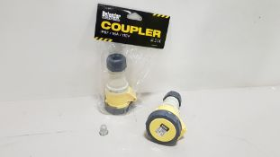 320 X BRAND NEW DEFENDER IP67 110V 16A COUPLER IN RETAIL BLISTER PACKS (CODE E884307) - IN 4 BOXES