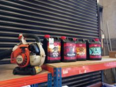 1 X (STIHL) BG85 COMMERCIAL LEAF BLOWER AND 4 X 5LITRE TUBS OF (DRAGON FORCE) NUTRIENT ROOT FEEDER