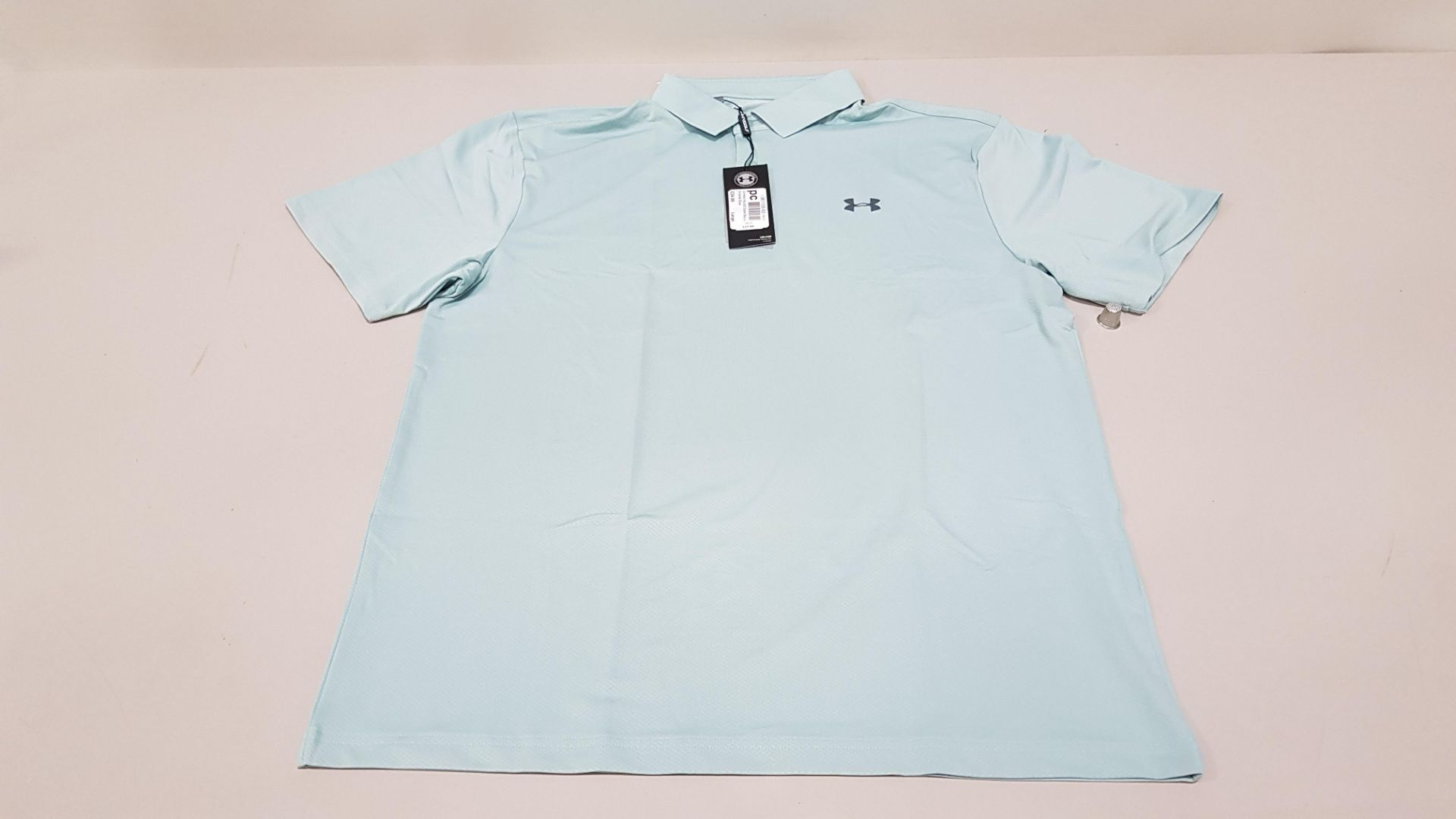 15 X BRAND NEW UNDER ARMOUR BAGGED PERFORMANCE POLO IN ENAMEL BLUE SIZE LARGE RRP £34.99 (TOTAL